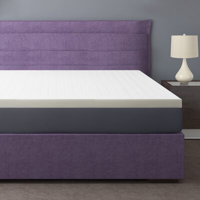 2.5 Memory Foam Mattress Topper Size: Twin