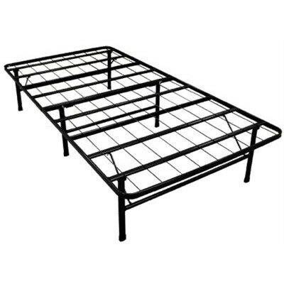Innovative Box Spring & Bed Frame Foundation with Skirt & Brackets Size: Twin