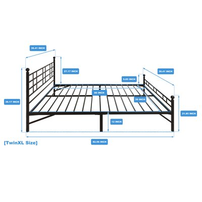 Model H Platform Bed Frame Size: Twin XL
