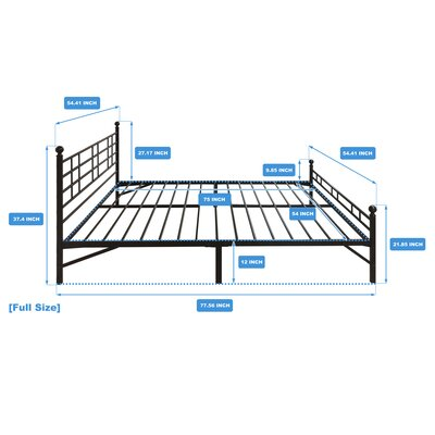 Model H Platform Bed Frame Size: Full