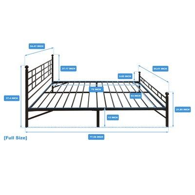 Model H Platform Bed Frame Size: Full