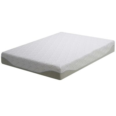 Folding Gel Memory Foam Mattress Foundation Size: Queen