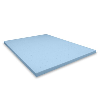 2.5 Gel Memory Foam Mattress Topper Size: Twin