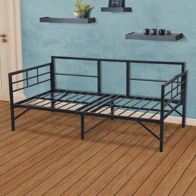 Mcintosh Easy Set Up Metal Daybed Frame Color: Black