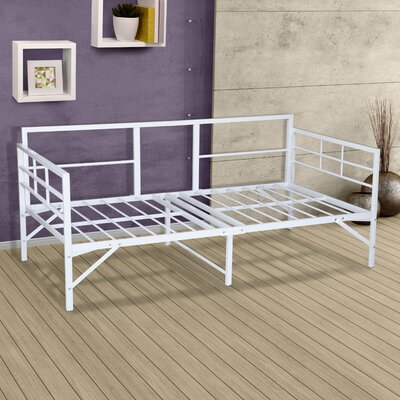 Mcintosh Easy Set Up Metal Daybed Frame Color: White