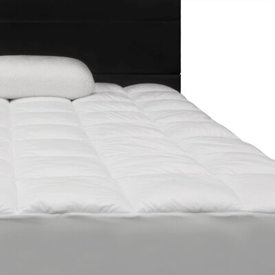 Comfort Plush Quilted Down Alternative Mattress Pad Size: Queen