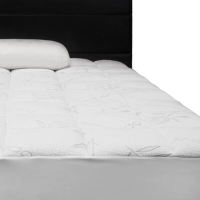 Comfort Rayon from Bamboo Quilted Down Alternative Mattress Pad Size: Twin