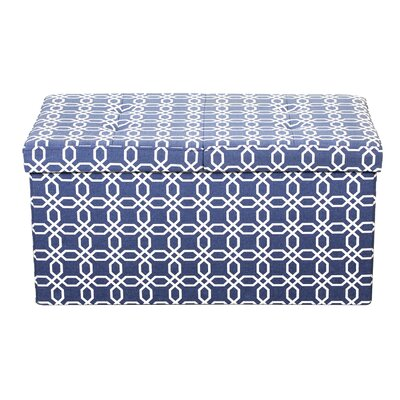 Providence Smart Lift Top Storage Upholstered Ottoman Upholstery: Octagon Blue, Size: 15 H x 30 W x 15 D