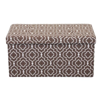 Chani Smart Lift Top Storage Upholstered Ottoman Upholstery: Moroccan Brown, Size: 15 H x 30 W x 15 D