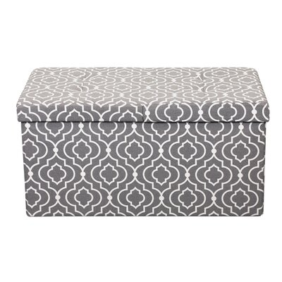 Chani Smart Lift Top Storage Upholstered Ottoman Upholstery: Moroccan Gray, Size: 15 H x 30 W x 15 D
