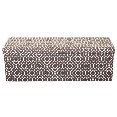Chani Storage Ottoman Upholstery: Moroccan Brown, Size: 15 H x 45 W x 15 D