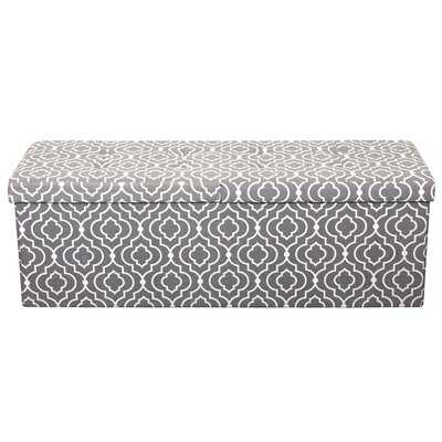 Chani Smart Lift Top Storage Upholstered Ottoman Upholstery: Moroccan Gray, Size: 15 H x 45 W x 15 D