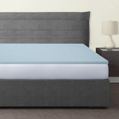 Gaddy 1.5 Gel Memory Foam Mattress Topper Size: Twin
