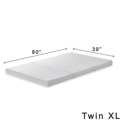 Gaertner 4 Tri-Fold Memory Foam Mattress Topper Size: Twin XL