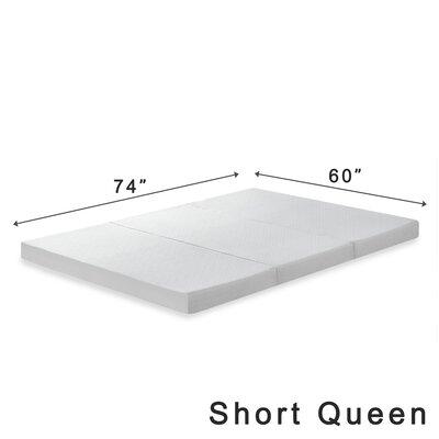 Gaertner 4 Tri-Fold Memory Foam Mattress Topper Size: Short Queen