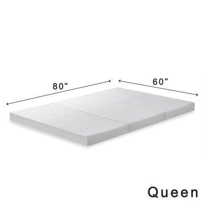 Gaertner 4 Tri-Fold Memory Foam Mattress Topper Size: Queen