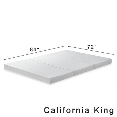 Gaertner 4 Tri-Fold Memory Foam Mattress Topper Size: California King