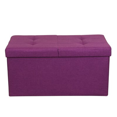 Smart Lift Top Upholstered Storage Ottoman Upholstery: Orchid Purple