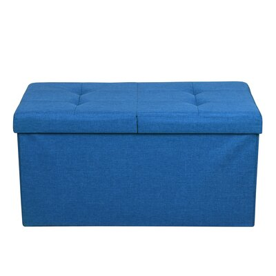 Smart Lift Top Upholstered Storage Ottoman Upholstery: Royal Blue