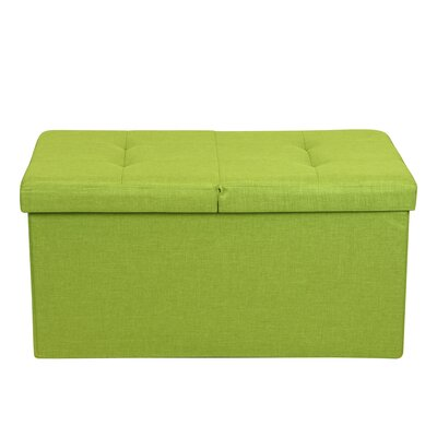 Smart Lift Top Upholstered Storage Ottoman Upholstery: Lime Green
