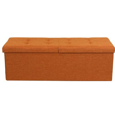 Smart Lift Top Upholstered Storage Ottoman Upholstery: Amber Orange