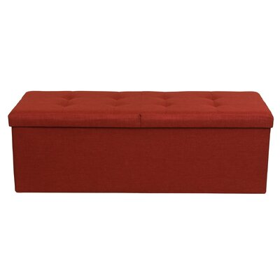 Smart Lift Top Upholstered Storage Ottoman Upholstery: Ruby Red