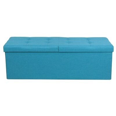 Smart Lift Top Upholstered Storage Ottoman Upholstery: Sky Blue