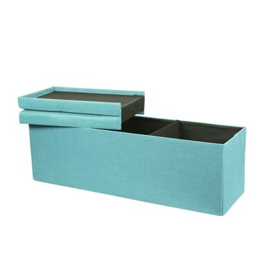 Smart Lift Top Upholstered Storage Ottoman Upholstery: Mint Blue