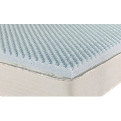 Ipedic Convoluted 3 Gel Memory Foam Mattress Topper Size: Queen