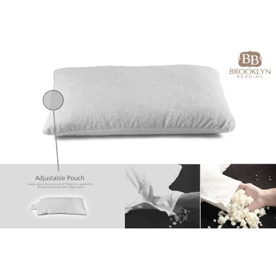 Adjustable Thickness Shredded Talalay Latex Pillow Size: King