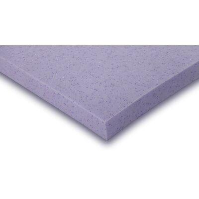 2 Plush Gel Memory Foam Mattress Topper Size: King