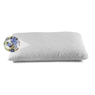 Shredded Combo Latex and Gel Memory Foam Pillow Size: Queen
