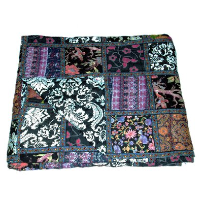 Cotton Block Print Patchwork Quilt