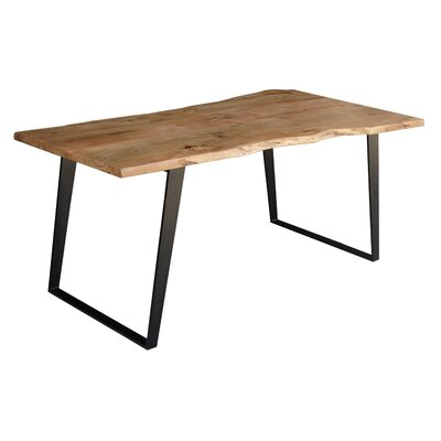Solid Wood Live Edge Dining Table Size: 30 H x 80 L x 36 W