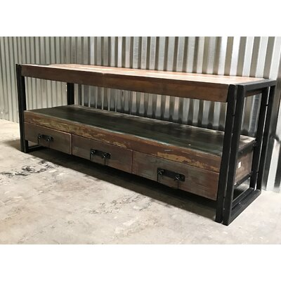 Old Reclaimed Wood TV Stand