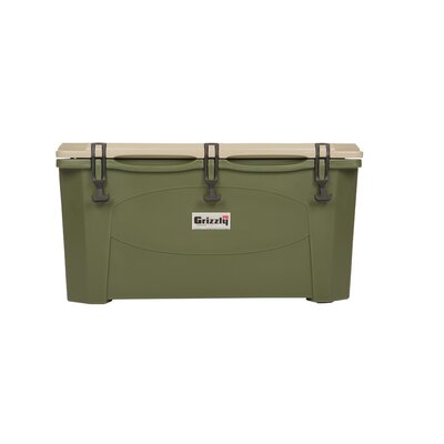 75 Qt. RotoMolded Cooler Color: Green/Tan