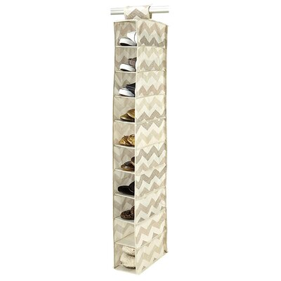 Macbeth Collection Textured Chevron 10 Shelf Shoe Organizer