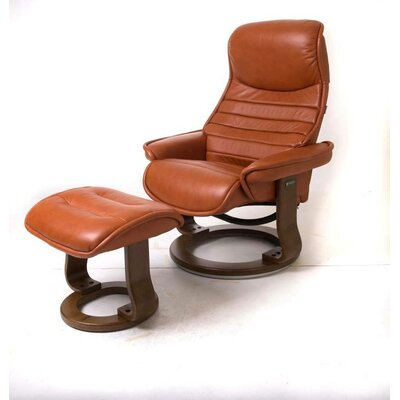 Veo Recliner and Ottoman Upholstery: Cognac