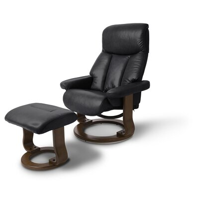 Bella Recliner and Ottoman Upholstery: Black