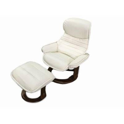 Veo Recliner and Ottoman Upholstery: White
