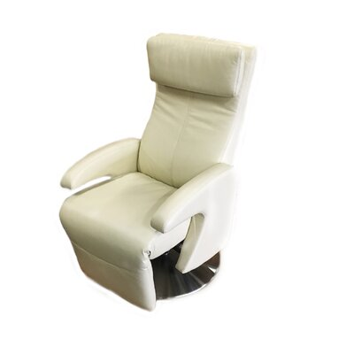 Rome Motor Leather Recliner Upholstery: Ivory