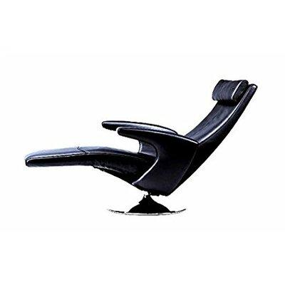 Rome Motor Leather Recliner Upholstery: Black