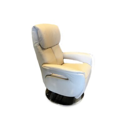 Manteo Leather Recliner Upholstery: Sand, Reclining Type: Manual