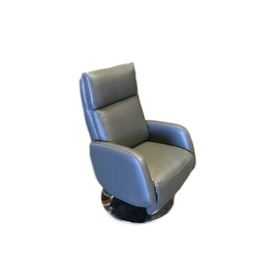 Maysville Leather Handle Manual Recliner Upholstery: Gray