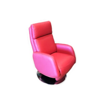 Maysville Leather Handle Manual Recliner Upholstery: Red