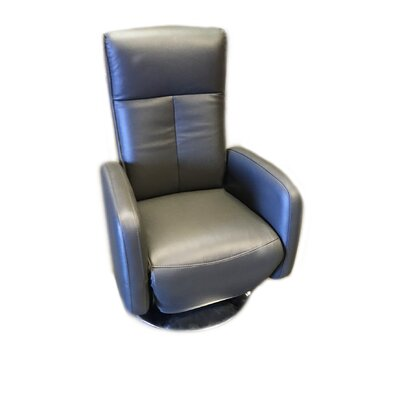 Lucama Leather Handle Manual Recliner Upholstery: Gray