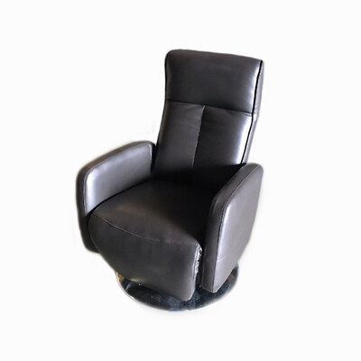 Lucama Leather Handle Manual Recliner Upholstery: Brown