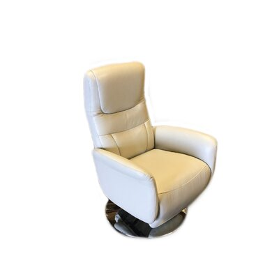 Macon Leather Handle Manual Recliner Upholstery: Light Gray