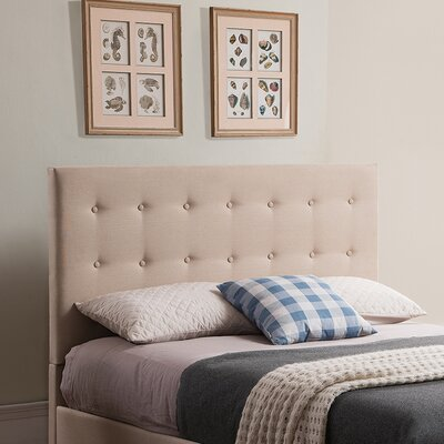 Stratford Upholstered Panel Headboard Size: Full/Queen, Color: Taupe