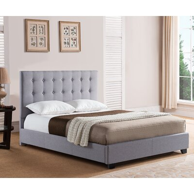 Stratford Upholstered Platform Bed Color: Gray, Size: King